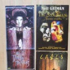 Cómics: LOTE DE 6 POSTERS NEIL GAIMAN THE SANDMAN MUERTE DEAD AMERICAN GODS CAGES DAVE MCKEAN. Lote 248352255