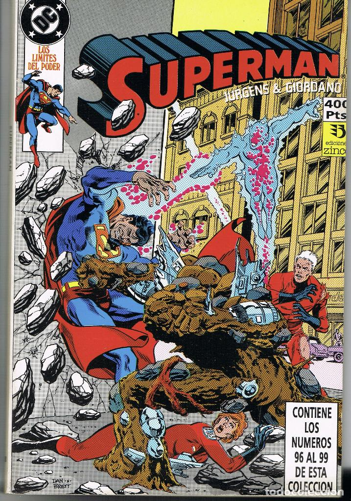 SUPERMAN RETAPADO 28. CONTIENE LOS NUMEROS 96 A 99 (DAN JURGENS, JERRY ORDWAY Y OTROS DIBUJANTES) (Tebeos y Comics - Zinco - Retapados)