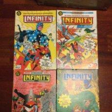 Cómics: INFINITY INC 6 AL 22. SEMICOMPLETA EN 4 RETAPADOS. ZINCO. Lote 252391985