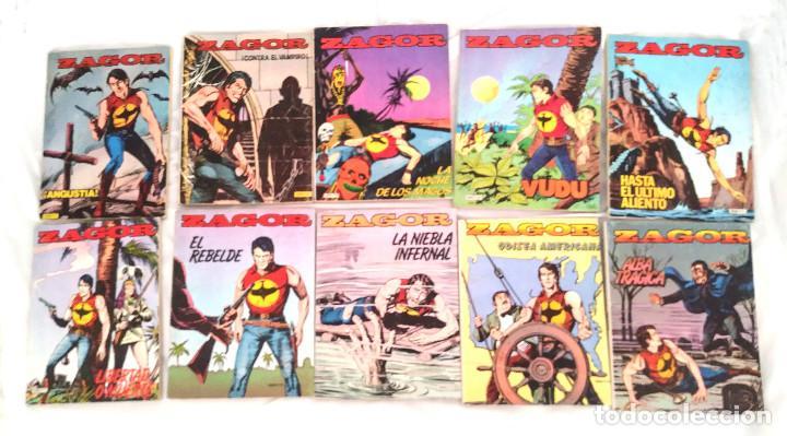 ZAGOR LOTE 10 COMICS DEL N° 1 AL 10 EDIT ZINCO AÑO 82 (Tebeos y Comics - Zinco - Otros)