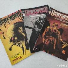 Cómics: 3 COMICS - HAWKWORLD - EDICIONES ZINCO - TRUMAN, ALCATENA, PARSONS - COMPLETA. Lote 254292865