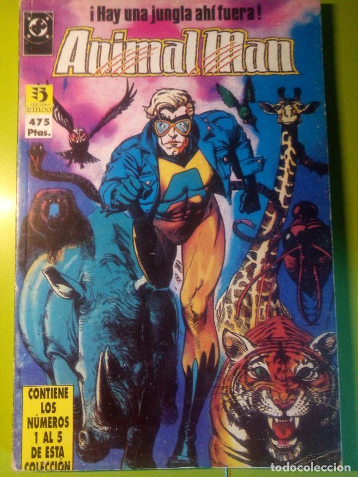ANIMAL MAN RETAPADO 1-5 SERIE ESPAÑOLA (Tebeos y Comics - Zinco - Retapados)
