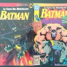 Cómics: BATMAN LA CAIDA DEL MURCIELAGO TOMO 1 Y 2. Lote 255565345