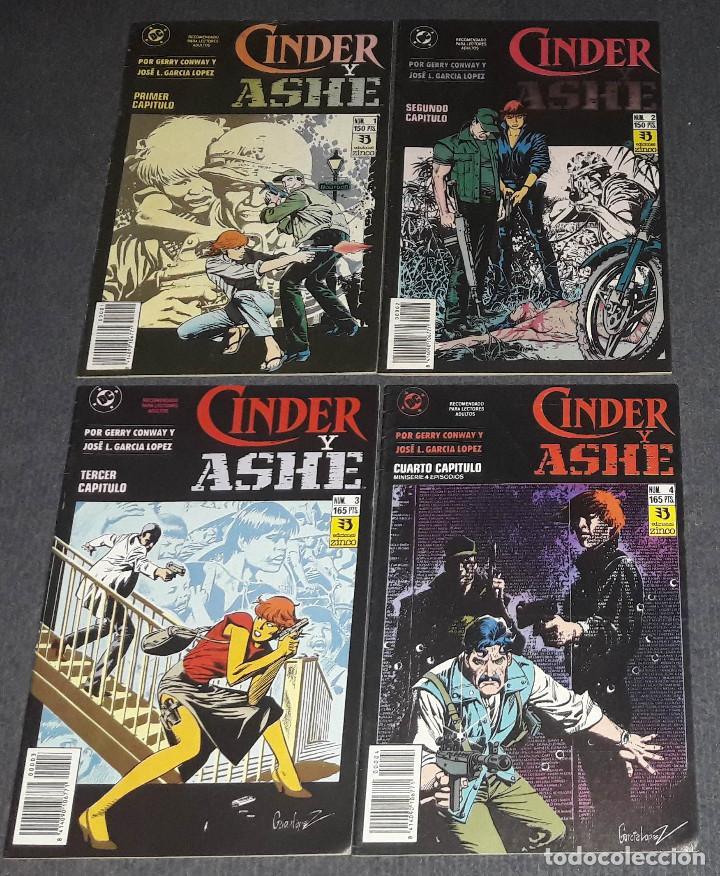 CINDER Y ASHE COMPLETA 4 COMICS EDICIONES ZINCO GERRY CONWAY Y JOSE L. GARCIA LOPEZ (Tebeos y Comics - Zinco - Otros)