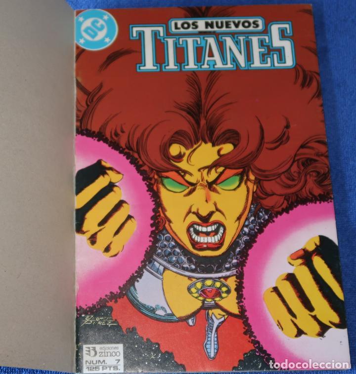 Cómics: Los nuevos titanes - retapado nº 7 al 10 - Ediciones Zinco (1989) - Foto 2 - 256073510