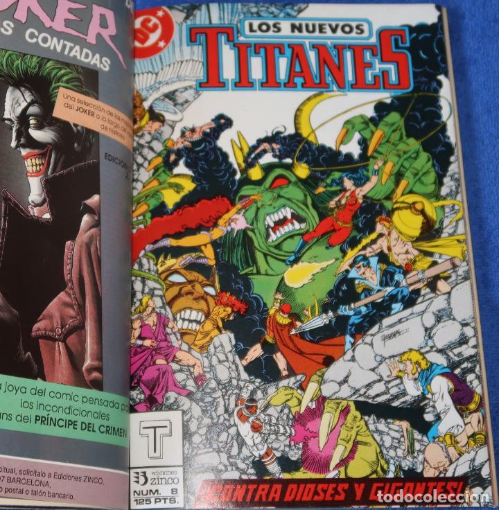 Cómics: Los nuevos titanes - retapado nº 7 al 10 - Ediciones Zinco (1989) - Foto 3 - 256073510