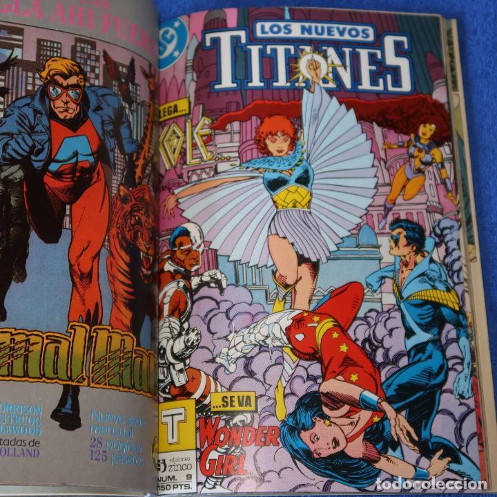 Cómics: Los nuevos titanes - retapado nº 7 al 10 - Ediciones Zinco (1989) - Foto 4 - 256073510