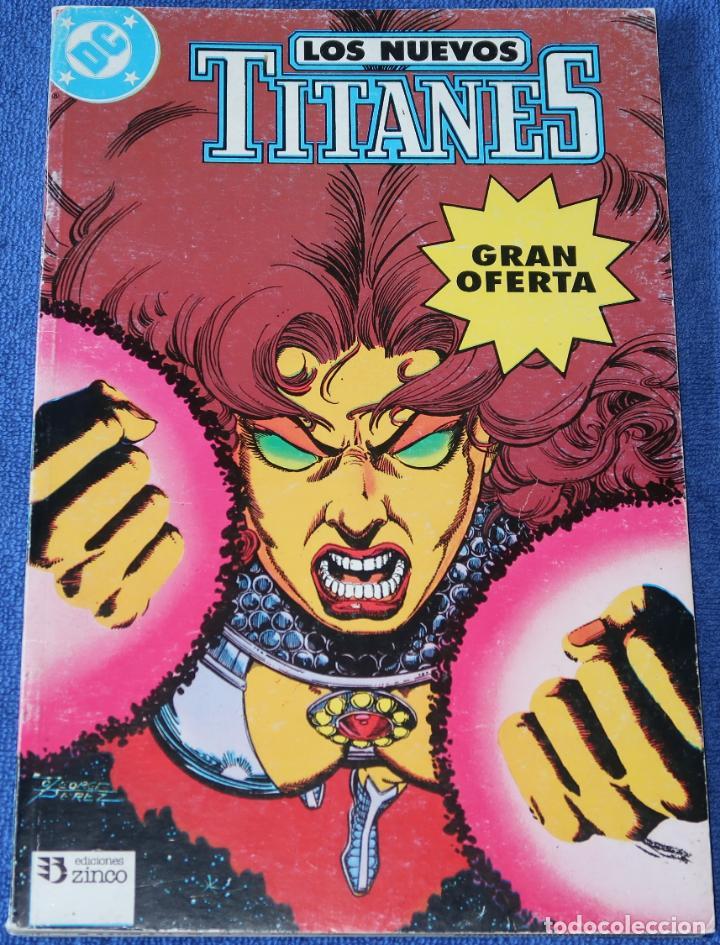 LOS NUEVOS TITANES - RETAPADO Nº 7 AL 10 - EDICIONES ZINCO (1989) (Tebeos y Comics - Zinco - Retapados)