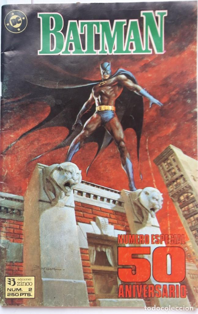 BATMAN. EDICIONES ZINCO. Nº2 NUMERO ESPECIAL 50 ANIVERSARIO. (Tebeos y Comics - Zinco - Batman)