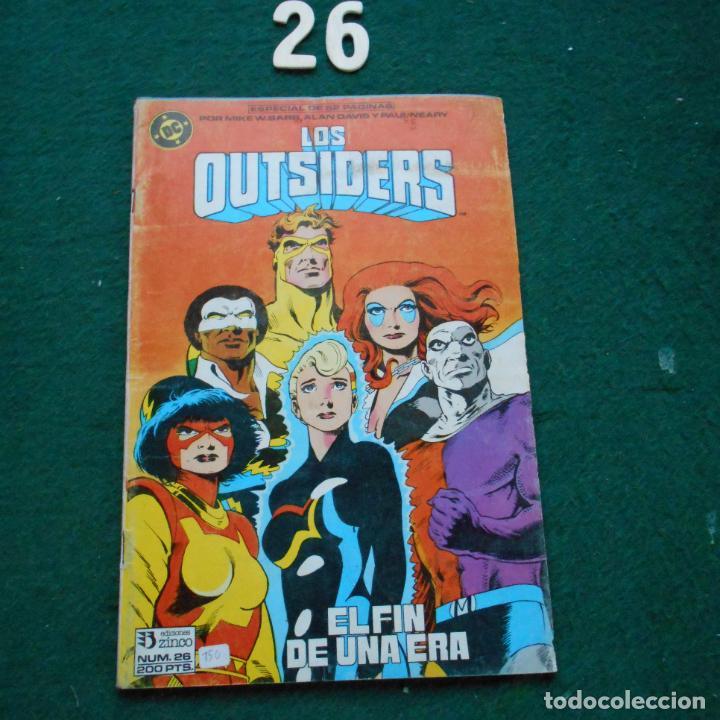 LOS OUTSIDERS Nº 26 EDICIONES ZINCO (Tebeos y Comics - Zinco - Outsider)