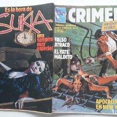 Cómics: CRIMEN Nº 22, 23, 24 Y 54 , EDICIONES ZINCO. Lote 257416165