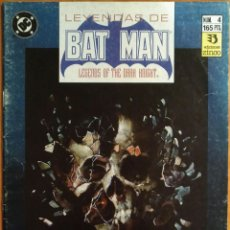 Cómics: COMIC BATMAN Nº4 LEYENDAS DE BATMAN. Lote 259710230
