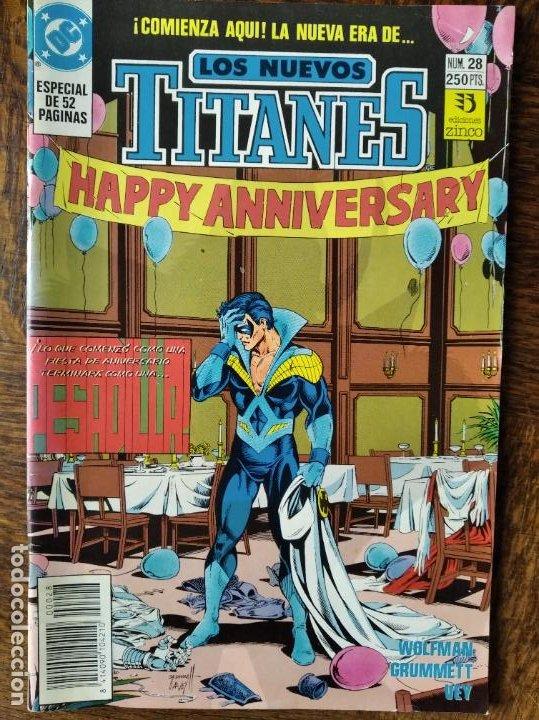 LOS NUEVOS TITANES Nº 28 - 2ª SERIE ZINCO DC COMICS - (Tebeos y Comics - Zinco - Nuevos Titanes)