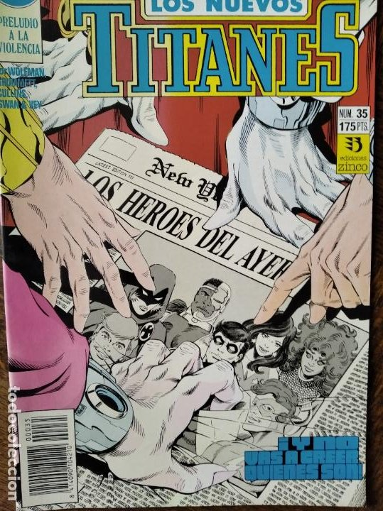 LOS NUEVOS TITANES Nº 35 - 2ª SERIE ZINCO DC COMICS - (Tebeos y Comics - Zinco - Nuevos Titanes)