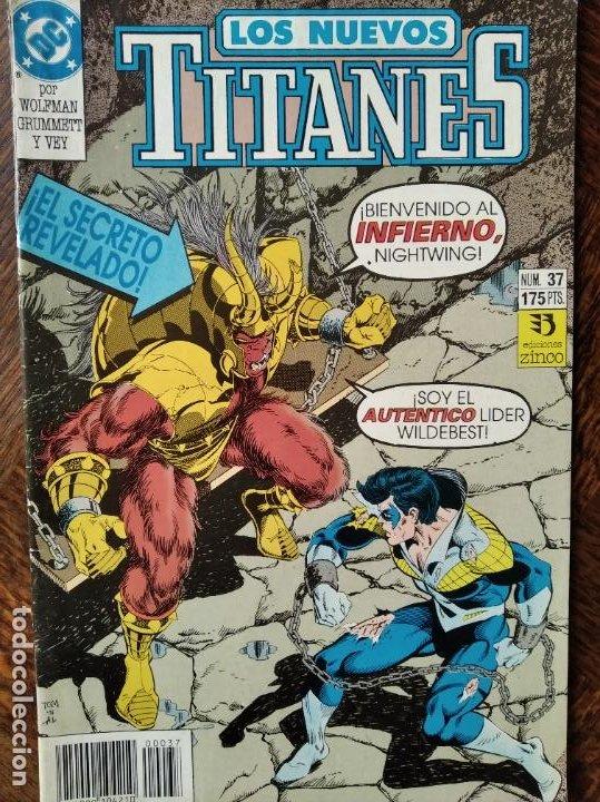 LOS NUEVOS TITANES Nº 37 - 2ª SERIE ZINCO DC COMICS - (Tebeos y Comics - Zinco - Nuevos Titanes)