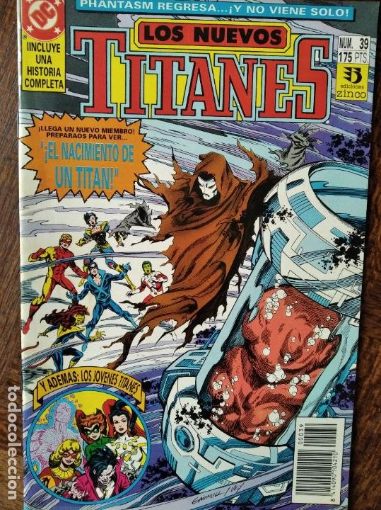 LOS NUEVOS TITANES Nº 39 - 2ª SERIE ZINCO DC COMICS - (Tebeos y Comics - Zinco - Nuevos Titanes)