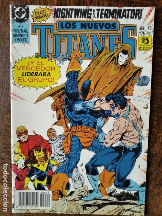 LOS NUEVOS TITANES Nº 40 - 2ª SERIE ZINCO DC COMICS - (Tebeos y Comics - Zinco - Nuevos Titanes)