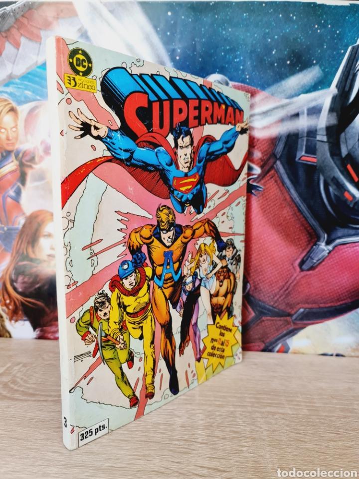 MUY BUEN ESTADO SUPERMAN 11 AL 15 RETAPADO TOMO 3 DC EDICIONES ZINCO (Tebeos y Comics - Zinco - Superman)