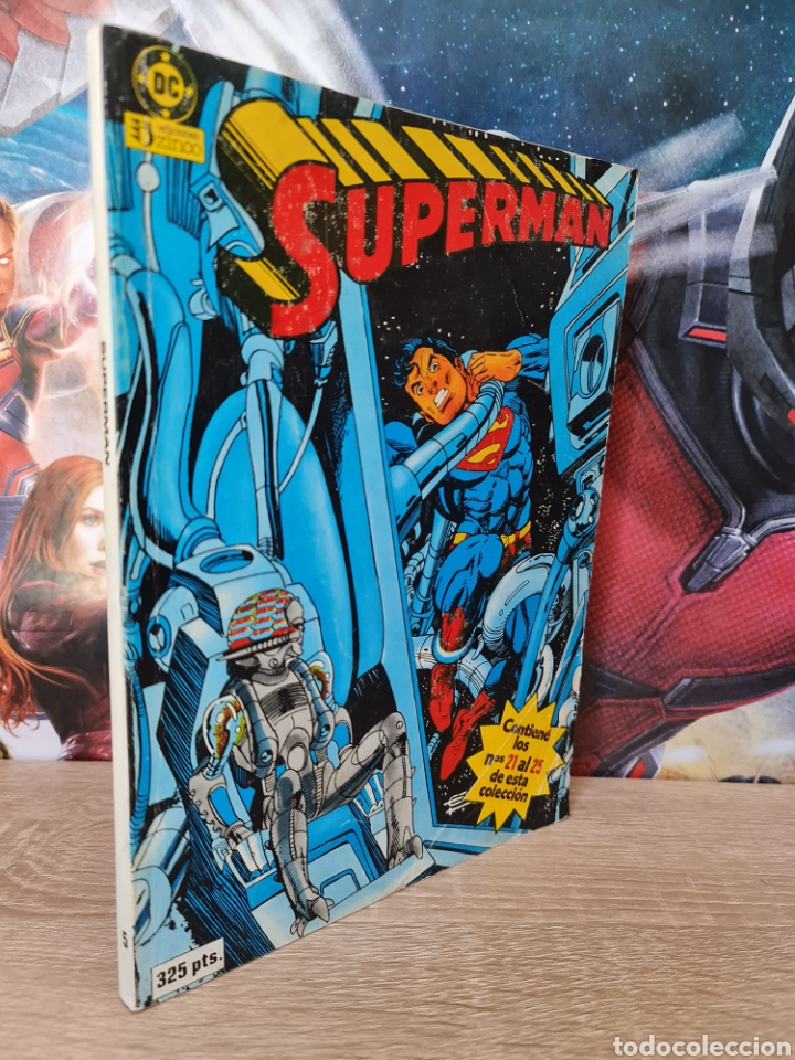 MUY BUEN ESTADO SUPERMAN 21 AL 25 RETAPADO TOMO 3 DC EDICIONES ZINCO (Tebeos y Comics - Zinco - Superman)