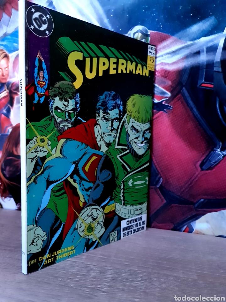 EXCELENTE ESTADO SUPERMAN 109 AL 112 RETAPADO TOMO 31 DC EDICIONES ZINCO (Tebeos y Comics - Zinco - Superman)