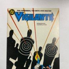 Fumetti: VIGILANTE. Nº 20.- EN LA NOCHE... EDICIONES ZINCO / DC.. Lote 262621140