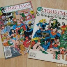 Cómics: CHRISTMAS CON LOS SUPER HEROES COLECCION COMPLETA DE 2 NUMEROS EDICIONES ZINCO. Lote 262755155