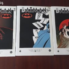 Cómics: LOTE DE 3 COMICS BATMAN GRANDES HÉROES DEL COMIC DIARIO EL MUNDO. Lote 263017395