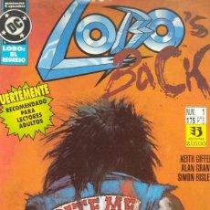 Cómics: LOBO´S BACK (EL REGRESO) LOTE COMPLETO 4 COMICS. ZINCO 1992 (PERFECTO ESTADO). Lote 263181480