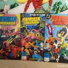 """Cómics: 3 CÓMICS """" LA PATRULLA CONDENADA """" ( Nº 1 - 7 Y 8) (REF,15). Lote 265416989"""