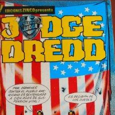 Cómics: JUDGE DREDD - EDICIONES ZINCO - NUMEROS 1 AL 5. Lote 265821924