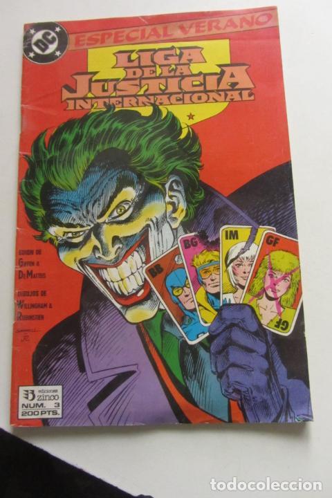 LIGA JUSTICIA INTERNACIONAL Nº 3 ESPECIAL VERANO ZINCO MUCHOS EN VENTA MIRA FALTAS ARX110 (Tebeos y Comics - Zinco - Liga de la Justicia)