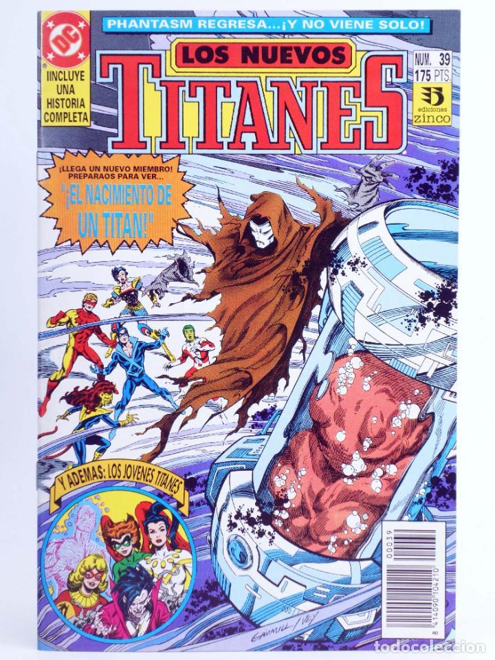 LOS NUEVOS TITANES 39 (MARV WOLFMAN / TOM GRUMMETT) ZINCO, 1992. CON POSTER. OFRT (Tebeos y Comics - Zinco - Nuevos Titanes)