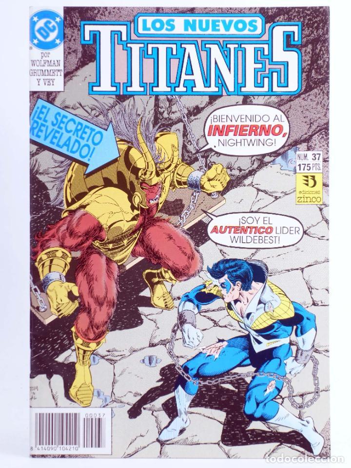 LOS NUEVOS TITANES 37 (MARV WOLFMAN / TOM GRUMMETT) ZINCO, 1992. OFRT (Tebeos y Comics - Zinco - Nuevos Titanes)
