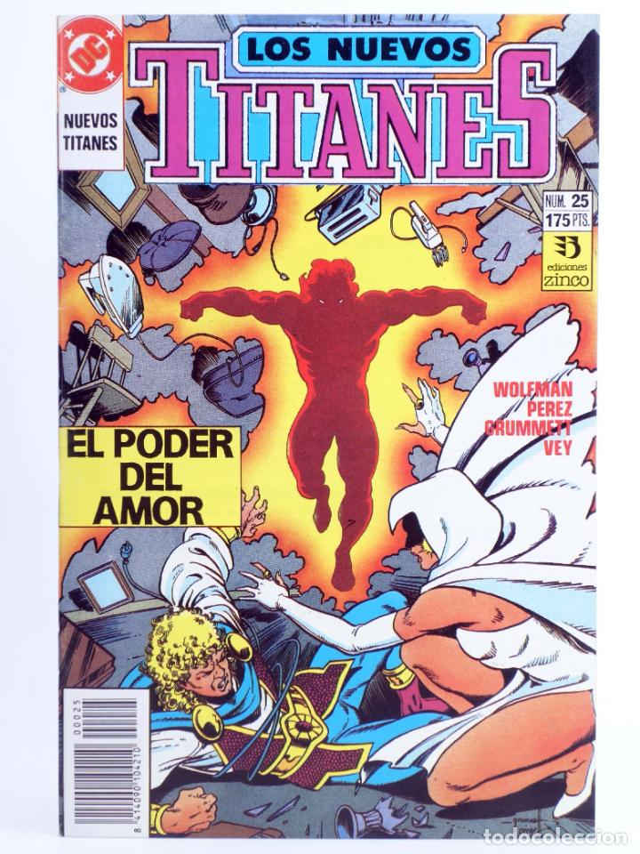 LOS NUEVOS TITANES 25. EL PODER DEL AMOR (WOLFMAN / PEREZ / GRUMMETT) ZINCO, 1991. OFRT (Tebeos y Comics - Zinco - Nuevos Titanes)