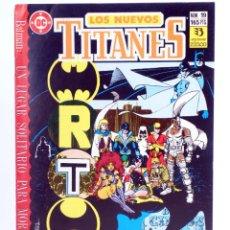 Comics : LOS NUEVOS TITANES 19 (WOLFMAN / PÉREZ) ZINCO, 1990. CON POSTER. OFRT. Lote 267149419
