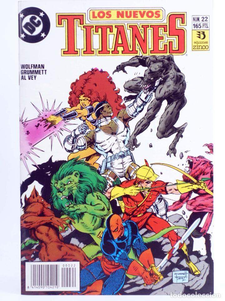 LOS NUEVOS TITANES 22 (MARV WOLFMAN / TOM GRUMMETT) ZINCO, 1991. OFRT (Tebeos y Comics - Zinco - Nuevos Titanes)