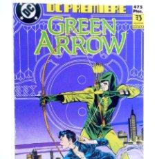 Cómics: DC PREMIERE RETAPADO NºS 11 12 13. GREEN ARROW (DEMATTEIS / BADGER) ZINCO, 1990. OFRT. Lote 267158949