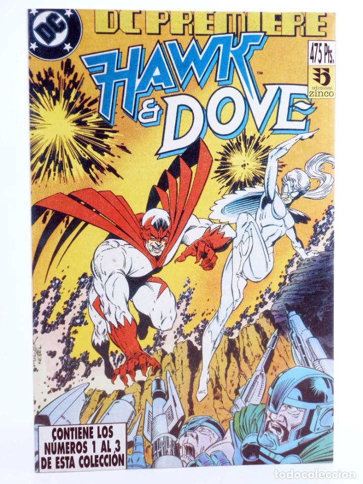 DC PREMIERE RETAPADO NºS 1 2 3. HAWK & DOVE (KESEL / GULLER / HANNA) ZINCO, 1990. OFRT (Tebeos y Comics - Zinco - Retapados)