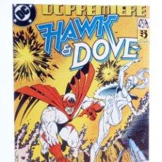 Cómics: DC PREMIERE RETAPADO NºS 1 2 3. HAWK & DOVE (KESEL / GULLER / HANNA) ZINCO, 1990. OFRT. Lote 267158969