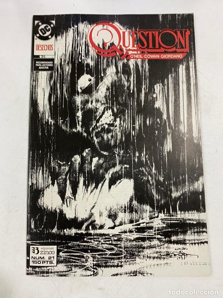 QUESTION? Nº 21.- DESECHOS. DC / EDICIONES ZINCO (Tebeos y Comics - Zinco - Question)