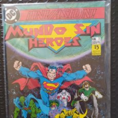 Comics : DESCATALOGADO-INVASIÓN/MUNDO SIN HÉROES #7-PRIMERA EDICIÓN- ZINCO-DC-VFN-BOLSA & BACKBOARD. Lote 267584764