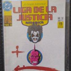 Comics : DESCATALOGADO-LIGA DE LA JUSTICIA AMÉRICA #52-PRIMERA EDICIÓN- ZINCO-DC-VFN-BOLSA & BACKBOARD. Lote 267585154