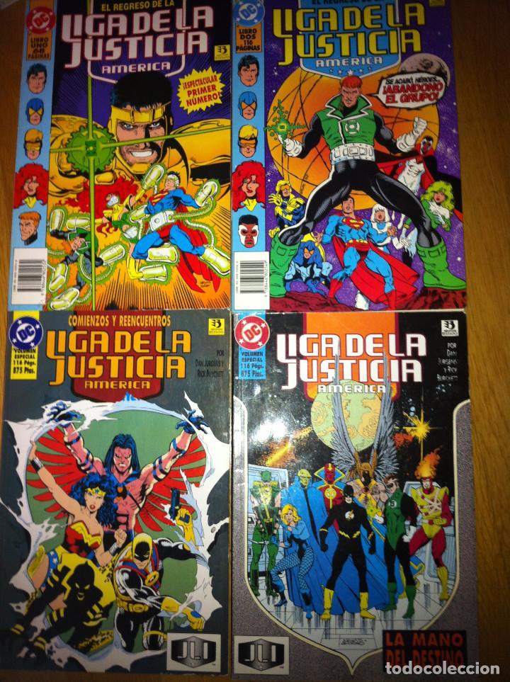 LIGA DE LA JUSTICIA AMERICA TOMOS NUMS. 1 AL 4 (Tebeos y Comics - Zinco - Liga de la Justicia)