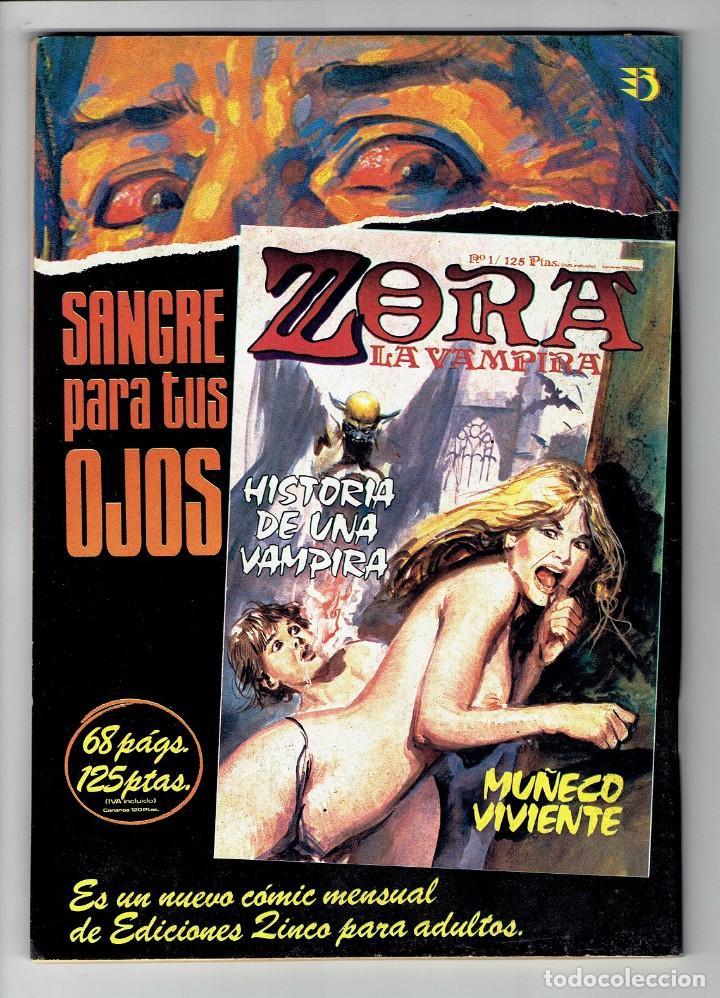 Cómics: ODEON Nº 1 EXTRA - 100 PÁG. SORPRESA FINAL - LA MUERTE EN PALACIO - ZINCO 1987 - Foto 2 - 269393063