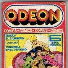 Cómics: ODEON Nº 5 - ROCKY EL CAMPEÓN - ARTURO - VIOLENCIA EN EL DESIERTO - EDICIONES ZINCO. Lote 269393738