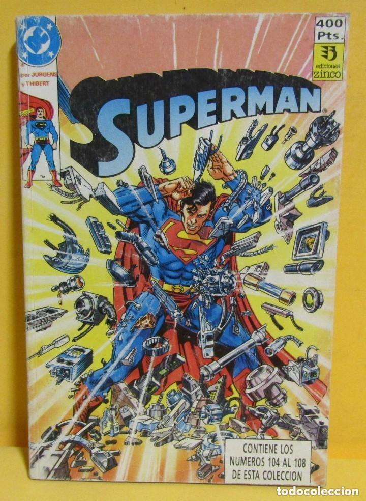 SUPERMAN 30. NÚMEROS 104 AL 108. JURGENS Y THIBERT **COMO NUEVO** (Tebeos y Comics - Zinco - Superman)