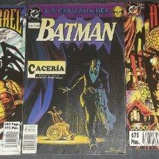 Cómics: LOTE DE 3 COMICS AZRAEL ANGEL CAIDO COMPLETA 2 COMICS BATMAN CACERIA TOMO 2. Lote 270000548