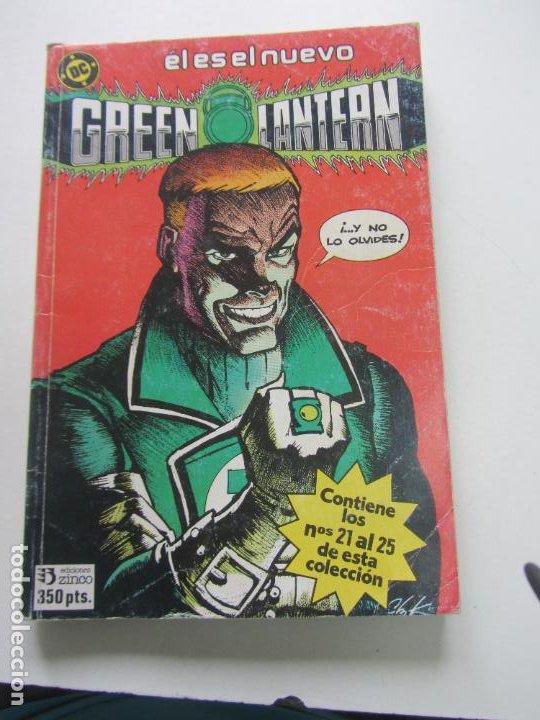 GREEN LANTERN. TOMO RETAPADO Nº 5. CONTIENE LOS Nº: 21 AL 25 ZINCO BUEN ESTADO E5 (Tebeos y Comics - Zinco - Retapados)