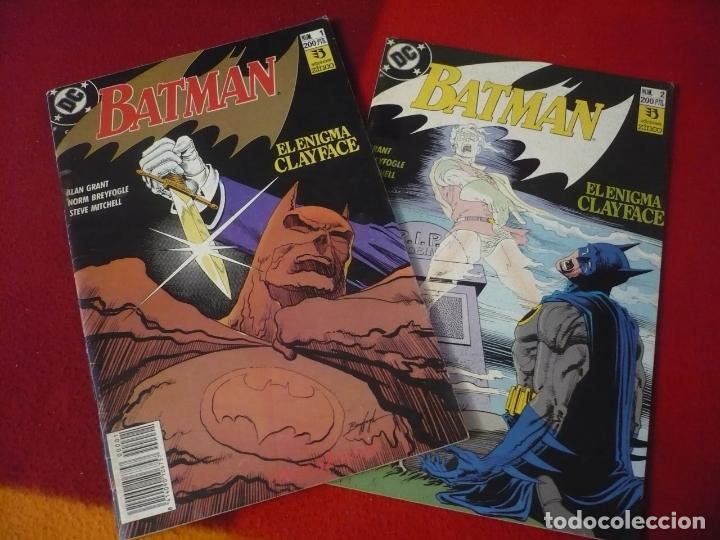BATMAN EL ENIGMA CLAYFACE NºS 1 Y 2 COMPLETA ( ALAN GRANT ) ¡BUEN ESTADO! DC ZINCO (Tebeos y Comics - Zinco - Batman)
