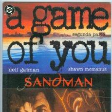 Cómics: ZINCO. SANDMAN. A GAME OF YOU. 2.. Lote 271176303